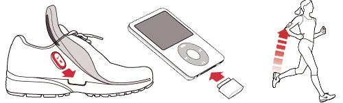 A hidden pocket houses the sensor; Attach the receiver to the iPod Nano; Hit the ground running with transmission