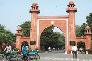 Troubled present: The main entrance of the Aligarh Muslim University, which was founded in 1875