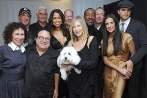 Planet Hollywood Resort: Pictured, back row left to right, Sylvester Stallone, James Brolin, Tracey Edmonds, Bruce Willis, Eddie Murphy, Kevin Spacey, Ashton Kutcher. Front row left to right, Rhea Per
