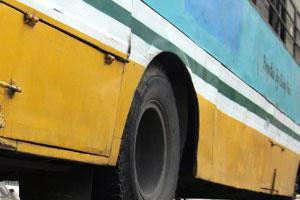 Killer wheels: Delhi's Blueline buses have already claimed  108 lives in the current year.