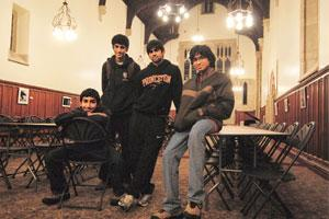 Oozing confidence: Indian students (from left) Sukrit Silas, Shiv Mohan Dutt, Nikhil Seth and Tushar Gupta on the Princeton campus. They arrived here in September, along with two others, Rohan Malik a
