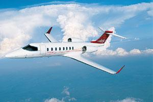 Spreading wings: A Bombardier Learjet 45. The company has named Mumbai-based Air Works India Engineering Pvt. Ltd as the first Bombardier line maintenance facility on the Indian subcontinent.