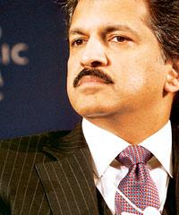 M&M managing ­director Anand G. Mahindra