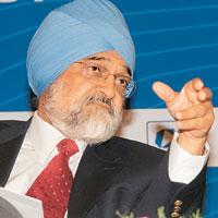 Government stamp: Planning Commission deputy chairman Montek Singh Ahluwalia.