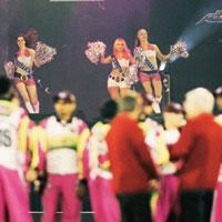 Cricket carnival: Cheerleaders perform during the ongoing ICL tournament in Panchkula. The district administration is counting on cricket fans-led tourism to boost the town's fortunes.