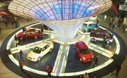 A January 2006 picture of the 8th New Delhi Auto Expo. Orders worth Rs538 crore were placed during this show