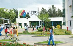 Vast opportunities: A file picture of the Wipro campus at Bangalore. Ramesh Emani, who has been with Wipro for 25 years, was the president of the product engineering solutions division at Wipro Techno