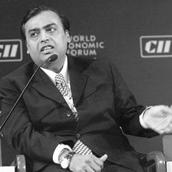 Big stakes: Reliance Industries Ltd chairman Mukesh Ambani. Oman Oil is looking to tap joint venture opportunities with RIL.