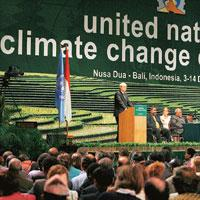 Being hopeful: UN climate chief Yvo de Boer said on Friday talks on emission cuts were moving ahead.