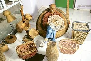 Design advantage: A.G. Rao, a professor of industrial design at IIT Bombay, with his creations.