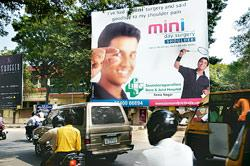 A hoarding advertising a surgery by the Soundarapandian bone and joint hospital at College Road, Chennai
