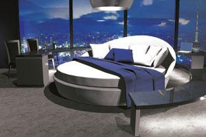 In the round: The new Evavo bed rotates 360 degrees.