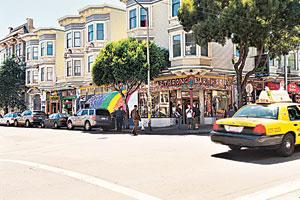 Free your mind: The rainbow colours and Earthsong at Haight and Ashbury reflect the spirit of the town.