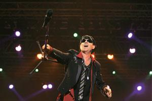 When the Scorpions came: I first heard them in college, but I'm 'still loving them'.