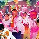 Big victory: Supporters celebrate BJP's win in Ahmedabad, Gujarat.