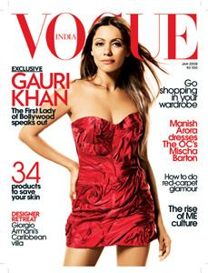 Dress it up: Cover girl Gauri Khan.