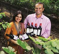 The Patils' wines won several credits at the India Wine challenge 2007