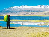 Crystal clear: The high altitude Tso-Moriri can be trekked to in seven days from Rumtse village.  (IndiaPicture)
