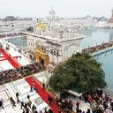 Attraction value: A bird's eye view of the Golden Temple in Amritsar. Companies are keen to develop the city side of the airport because of its real estate potential and the huge non-resident populati