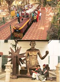 Explocity: (above) After exploring Cubbon Park, take your children for a train ride at Bal Bhavan; children can see a charkha at Gandhi Smriti.