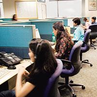 Growth potential: The BPO sector currently exports around $11 bn of services, and is growing at 35% a year. (Photo: Madhu Kapparath/ Mint)