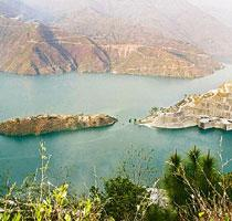 The Tehri hydro power project. The government plans to set up 16,553MW of hydropower capacity in the five years to 2012, and another 30,000MW in the five years to 2017. (Rajeev Dabral / Mint )