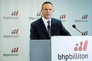 BHP Billiton CEO Marius Kloppers talks at the company's interim results briefing in Sydney 6 February 6. Analysts say BHP's new offer may be more attractive to Rio Tinto, but may still not be enough t
