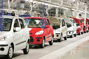 Fast lane: The Hyundai facility at Sriperumbudur. The company is riding on robust sales of the i10