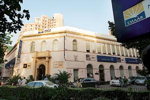 Evaluation on: The Emaar MGF office building at Connaught Place, New Delhi. The company entered the capital market on 1 February with an IPO of 102.57 million equity shares to raise more than Rs6,400