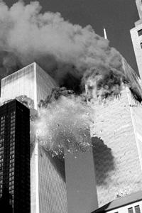 Terror target: A file picture of the 11 September 2001 attack on the World Trade Centre. Around 3,000 people were killed on that day.