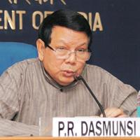 Constitutional obligation: A file photo of information and broadcasting minister Priya Ranjan Dasmunsi. An ordinance on delimitation of constituencies will be issued within a matter of days, he said o