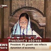 Constant endeavour: President Pratibha Patil addresses the joint sitting of the Parliament marking the commencement of the Budget session in New Delhi on Monday.