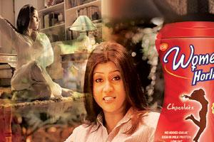 "The new woman: Bollywood actor Konkona Sen Sharma endorses Women's Horlicks—a variant of the health drink from GSK Consumer Healthcare. The ad ends with the tag line, ""Because your body needs you too…"