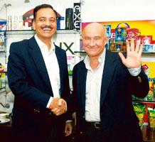Change of guard: Nitin Paranjpe (left) will take over as HUL MD and CEO from Douglas Baillie (right). ( Ashesh Shah / Mint )