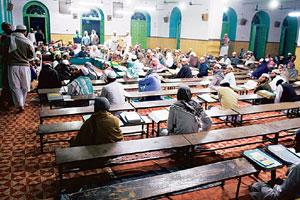 Inward looking: Students in a Darul Uloom madrasa. The Darul Uloom is unlikely to support any government initiative on Islamic education. (Photo: Harikrishna Katragadda/ Mint)