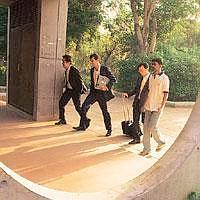 Tight schedule: A file photo of recruiters going for appointments with IIM-A students. Many say the recruitment process should be extended, giving time to recruiters to choose the right candidates and