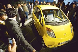 Going places: Tata would be looking at selling different versions of the Nano in markets such as Europe. (AP)