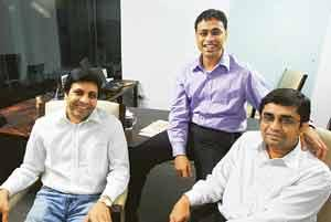 Full circle: Lifespring founders Sriram Nadathur, Suri Venkatachalam and Manish Gupta. (Gopinath Nair / Mint)