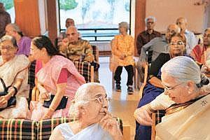 Good ol' days: Residents of Athashri, a housing complex in Pune for senior citizens. Buy-in prices for such homes could be Rs30-50 lakh.