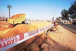 Breach of freedom: A file photo of a national highway construction site. (Photo: Rajeev Dabral/ Mint)