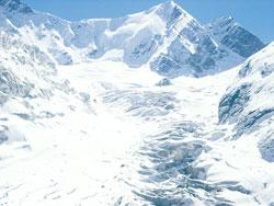 Dokriani glaciers in Garhwal Himalayas are receding at the rate of 1.5-2m every year (Photo by: DP Dobhal, Wadia Institute of Himalayan Geology, Dehradun)