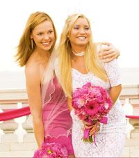 Katherine Heigl as an unlucky bridesmaid in 27 Dresses