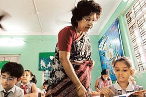 Better equipped: Annette Fernandes takes lessons at Greenlawns School in Mumbai. She says a workshop she attended motivated her and helped her to get students more active and participative in class. (