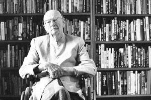Prolific writer: A file photo of science fiction writer Arthur C. Clarke at his home in Colombo, Sri Lanka.