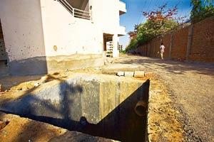 Green plan: A residential complex, with rainwater harvesting facility, being developed by Raheja Developers Pvt. Ltd in Gurgaon. (Rajeev Dabral / Mint)