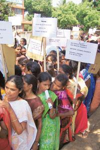 Rallying point: A file photo of villagers protesting against Ramky's plan to build a facility to treat hazardous waste in Gummidipoondi.