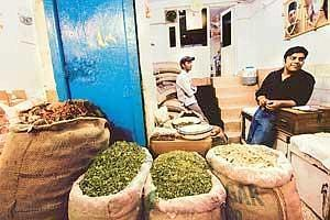 Going places: Spice traders at a wholesale shop in New Delhi. India dominates the spice trade, accounting for more than half of the total global exports worth $2 billion. (Photo: Harikrishna Katragadd