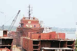 Preferred destination: The ABG Shipyard in Gujarat. Lower labour costs and manufacturing efficiencies, along with a government subsidy, have helped Indian shipbuilding stay competitive. (Photo: Ashesh