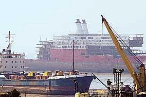 Infrastructure issues: Alang ship-breaking yard in Gujurat. The Supreme Court last year had asked the state government to modernize the yard.
