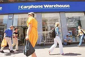Support staff: A Carphone Warehouse shop in London, UK. The firm's subsidiary in India is expected to be operational early next month.
